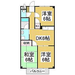リスンB[2階]の間取り