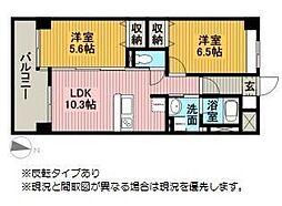 モン・ヴィラージュ佐賀駅前[807号室]の間取り