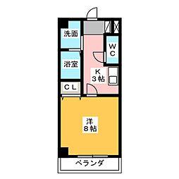 ジュネスFUKUDA[1階]の間取り