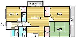 エクレールミシマ[6階]の間取り