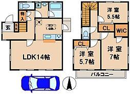 [一戸建] 千葉県柏市あけぼの3丁目 の賃貸【/】の間取り