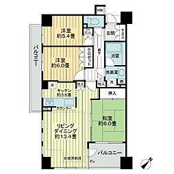 多摩川ガーデンハウス[1階]の間取り