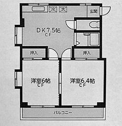 北軽井沢ハイツ[201号室]の間取り