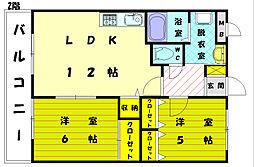 ピュアロイアル2[2階]の間取り
