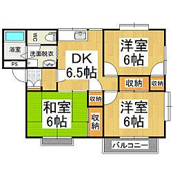 サンシャイン深澤 B[2階]の間取り