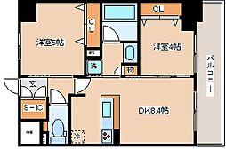 兵庫県神戸市兵庫区大開通3丁目の賃貸マンションの間取り
