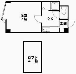 オリエント14[1階]の間取り