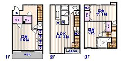 [テラスハウス] 千葉県市川市日之出 の賃貸【/】の間取り