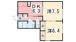 ヴェルジュール別所II[103号室]の間取り