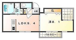 Mare BluI[3階]の間取り