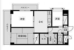 寺田ビル森野[2階]の間取り