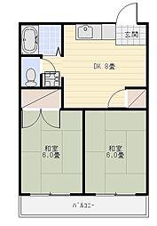 メゾン竜禅寺[303号室]の間取り
