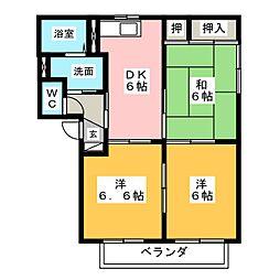 Chelsea A[2階]の間取り