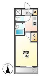 置地マンション[3階]の間取り