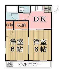 遠藤マンション[103号室]の間取り