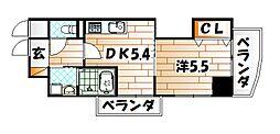 THE SQUARE・Club Residence[8階]の間取り