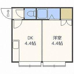 ホワイトパレス栄通[3階]の間取り