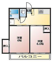 神奈川県厚木市長谷の賃貸マンションの間取り