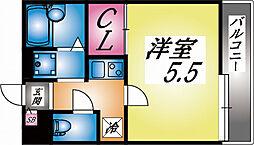 兵庫県神戸市灘区大石北町の賃貸アパートの間取り