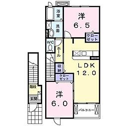 シティガーデンI[2階]の間取り