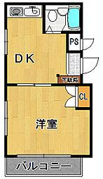プチマダン武庫之荘[2階]の間取り