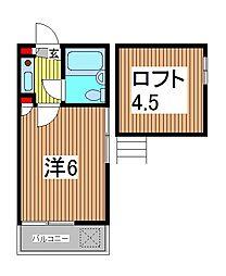 埼玉県川口市芝下3丁目の賃貸アパートの間取り