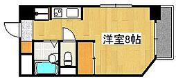 エミネンス隼人塚[201号室]の間取り