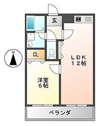 ベラビスタ柴田[3階]の間取り
