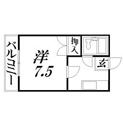 静岡県浜松市中区海老塚2丁目の賃貸アパートの間取り