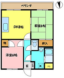埼玉県さいたま市桜区栄和5丁目の賃貸マンションの間取り