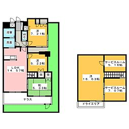 ザ・エンブル・サウス静岡[1階]の間取り
