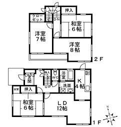 [一戸建] 滋賀県草津市笠山4丁目 の賃貸【/】の間取り