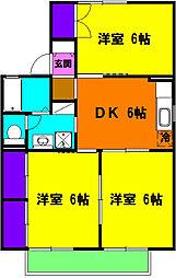 静岡県浜松市中区和合北2丁目の賃貸アパートの間取り