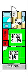 孝福荘[201号室]の間取り