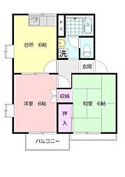 サンステージA[2階]の間取り