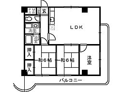 エスポワールヨネコ[1階]の間取り