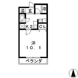 MMS−Ⅱ[3階]の間取り