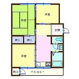 メゾン青葉台6号棟[304号室]の間取り
