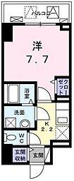 JR山陽本線 福山駅 徒歩5分の賃貸マンション 5階1Kの間取り