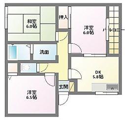 シャトレ岡田A.B棟[1階]の間取り