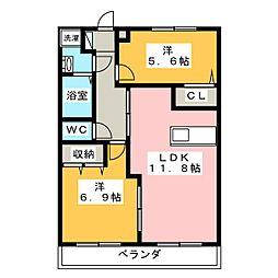 フラターニティU[2階]の間取り