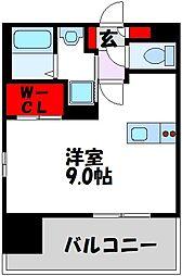 仮)LANDIC 美野島3丁目 2階1Kの間取り