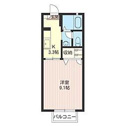 エーデル桜 B[2階]の間取り