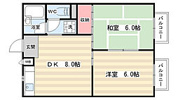 アタカハイツ[3階]の間取り
