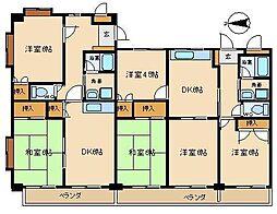 ワイズマンション三郷[103号室]の間取り