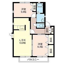 SugayaVillageII[2階]の間取り