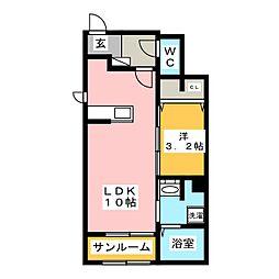 アルコバレーノ桜木[1階]の間取り