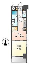 エステムプラザ名古屋駅前プライムタワー[5階]の間取り