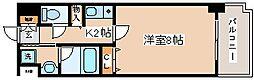 兵庫県神戸市中央区浜辺通3丁目の賃貸マンションの間取り