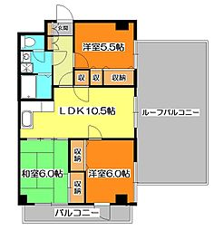 プレミール東久留米[6階]の間取り